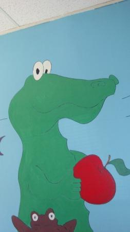 Aligator canvas mural