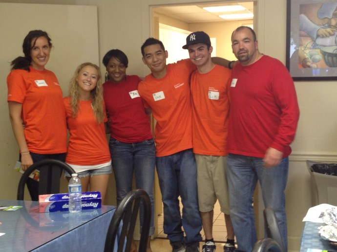 Microsoft volunteers in NJ