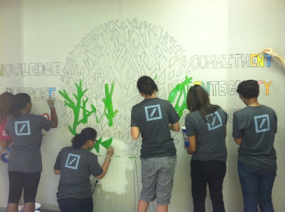 Deutsche Bank Volunteers in Jersey City, NJ