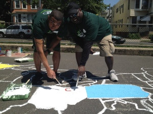 NY Jets Volunteers in East Orange, NJ