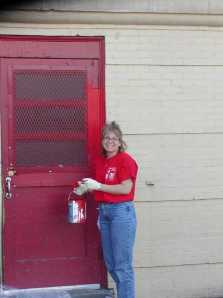 DAY 19 Pfizer Volunteer painting Door- JC 03
